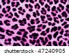 Decorative Leopard Printed Fur Background in Pink and Black - stock