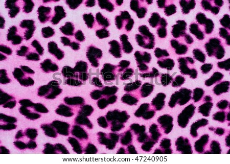 Decorative Leopard Printed Fur Background in Pink and Black - stock photo
