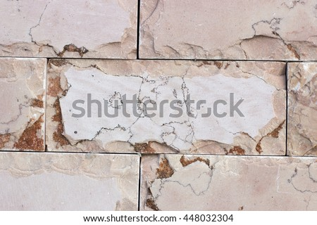 decorative marble wall from bricks background