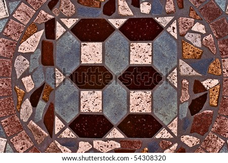 Decorative mosaic tile wall texture