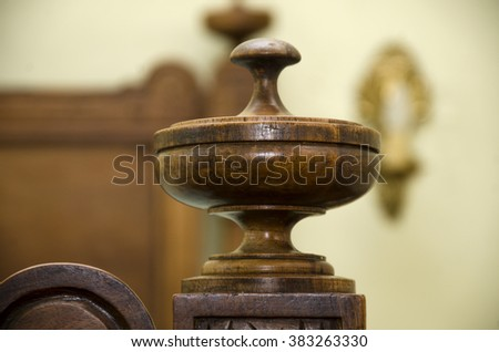 Decorative object of wood