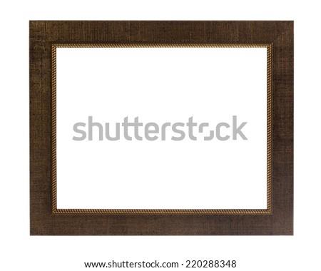 Decorative old photo frame isolated on white background - stock photo