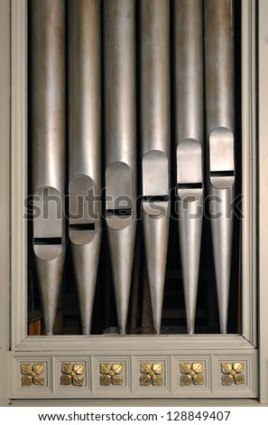 Decorative organ pipes in the church