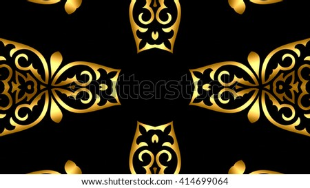 Decorative oriental gold background