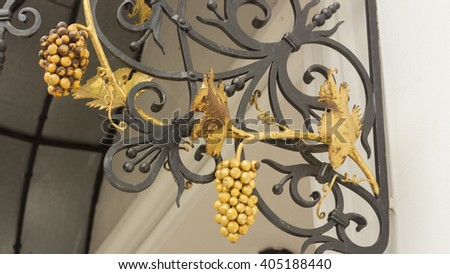 Decorative ornament, made of metal
