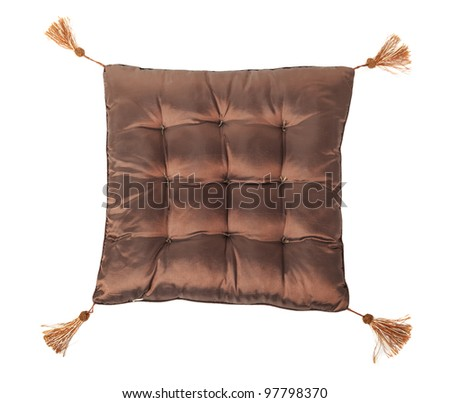 Decorative pillow isolated on white background - stock photo