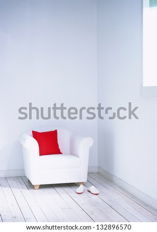 Decorative pillow natural - stock photo