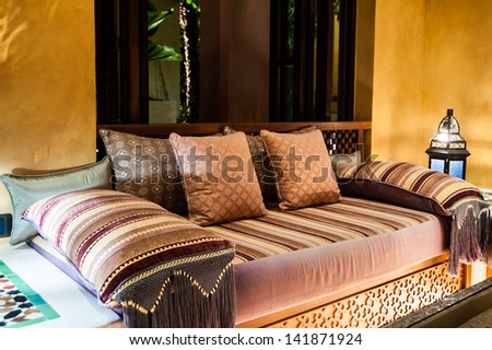 decorative pillow natural Fabric - stock photo