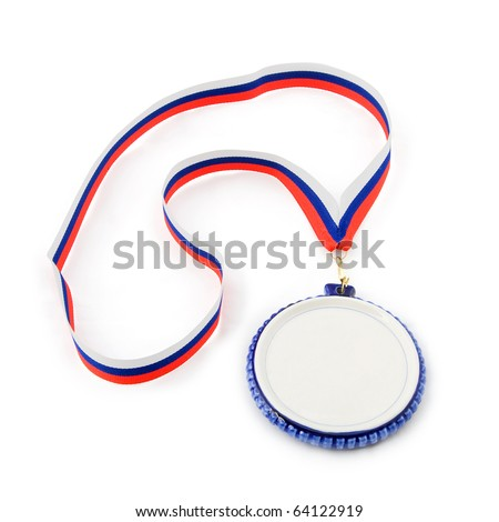 Decorative porcelain blank medal - stock photo