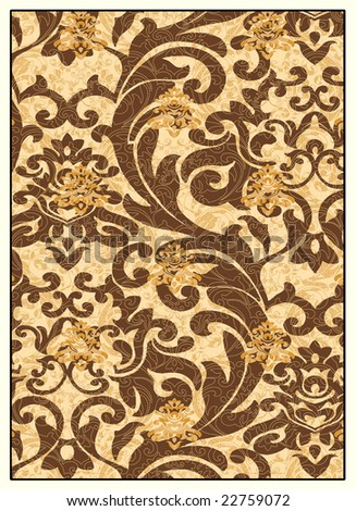 Decorative renaissance background - stock photo
