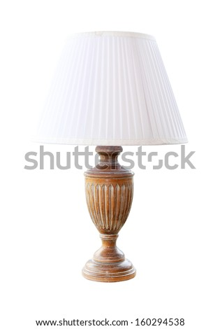 Decorative retro lamp isolated with clipping path included - stock photo