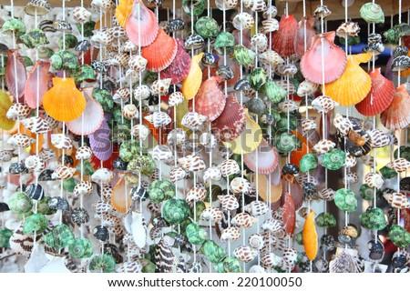 Decorative sea shell product - stock photo