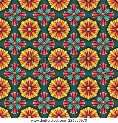 decorative seamless pattern, Christmas wrapping paper - stock photo