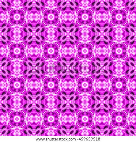 Decorative seamless pattern in ethnic geometric style - stock photo