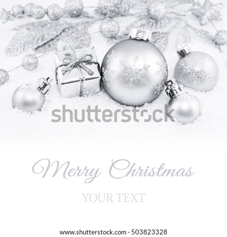 Decorative silver christmas background
