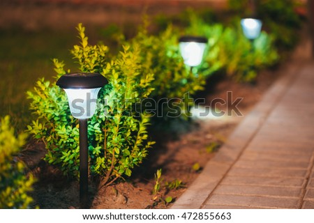 Solar Garden Lights Stock Images Royalty Free Images Vectors