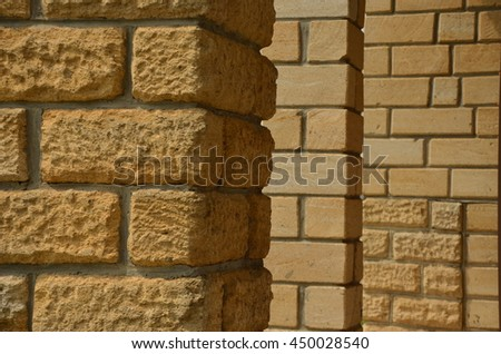 Decorative stone laying. Construction. Background.