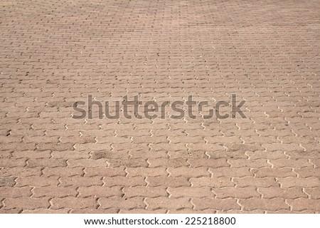 decorative stone paving - stock photo