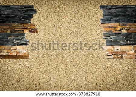 Decorative stones in the interior - stock photo