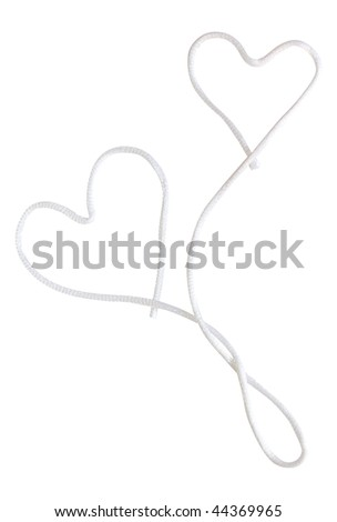 decorative swirl from lace in heart form - stock photo