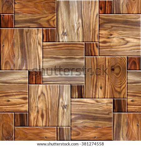 Decorative tile pattern - seamless background. Checkered style. Wood texture. Wallpaper texture background. Fine natural structure. Interior Design wallpaper. Continuous replication. Different colors. - stock photo