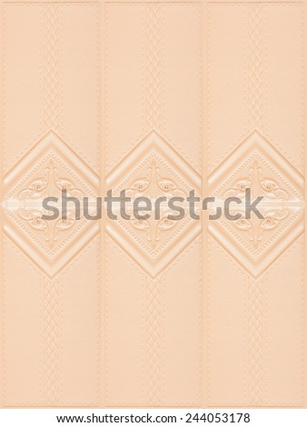 Decorative tile with volume drawing and texture of skin, a tile for dressing of rooms laid out in a pattern, nobody. - stock photo