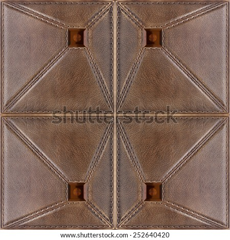Decorative tile with volume drawing and texture of skin, geometrical lines of the image. - stock photo
