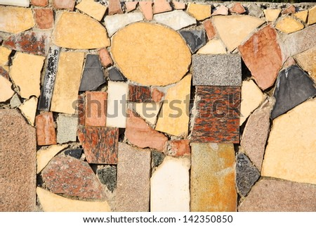 Decorative tiles on the wall. - stock photo