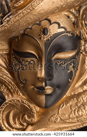Decorative Venetian mask - stock photo