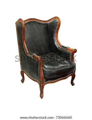 Decorative vintage armchair isolated with clipping path included