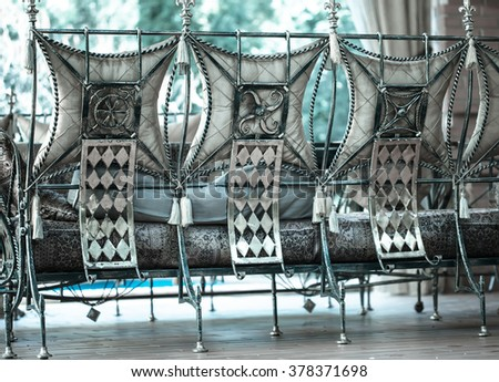 Decorative vintage metal chairs furniture