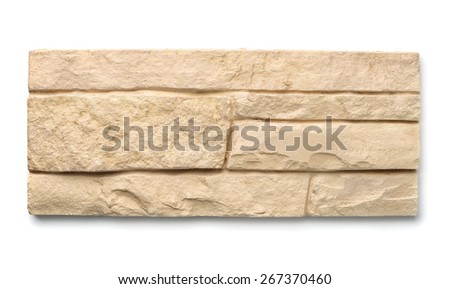 Decorative wall tiles isolated on white - stock photo