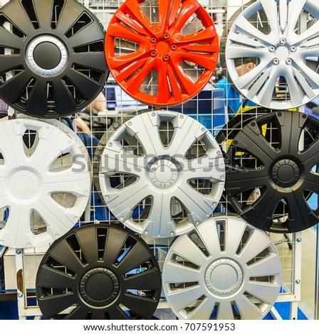 decorative wheel covers closeup auto tuning