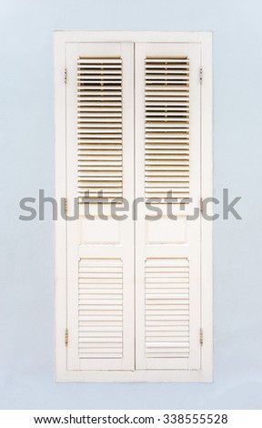 Decorative window on an old wall, white space, singapore