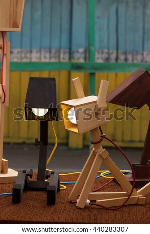 Decorative wooden lamps