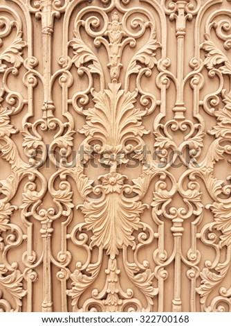 Decorative wrought iron gates - stock photo