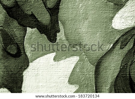 decoratively abstract painting for an interior - stock photo