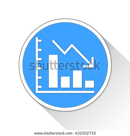 Decrease Chart Button Icon Business Concept