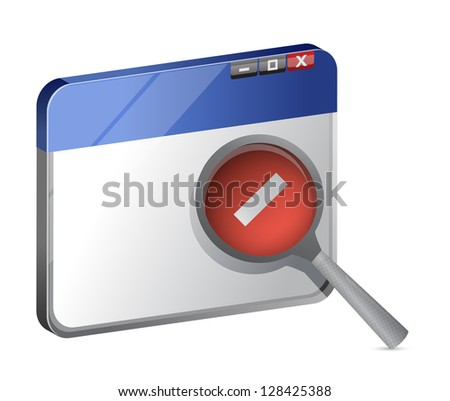 decrease web browser view illustration design over a white background - stock photo
