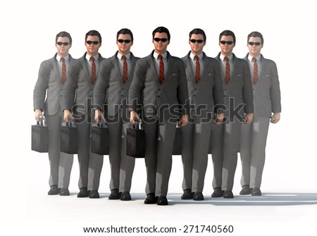 dedicated business team - stock photo
