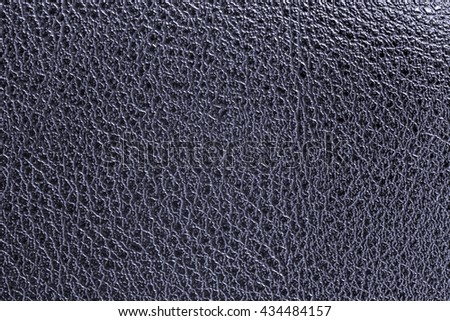 Deep blue leather texture background for design with copy space for text or image.