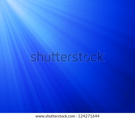 Deep Blue light - stock photo