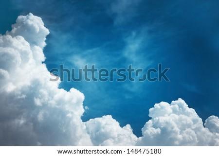 Deep blue sky - stock photo