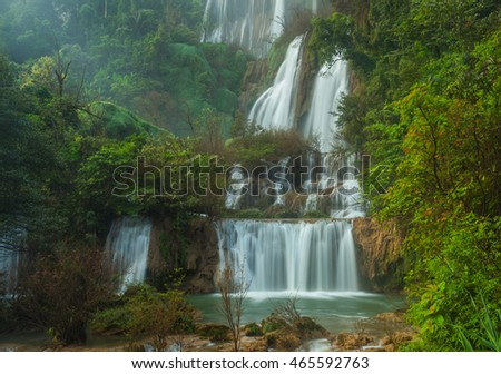 Deep Forest beautiful waterfall at Thi Lor Su, Tak, Thailand