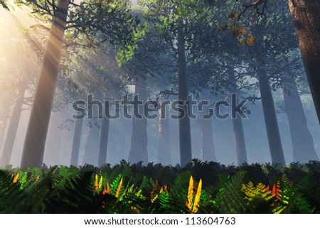 Deep Forest 3D render