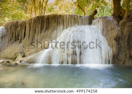 Deep forest waterfalls in natural forest of Thailand
