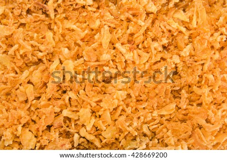 deep fried and crispy onion to use as background - stock photo