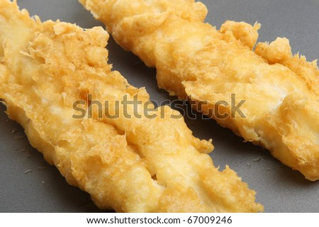 Deep-fried battered cod fillets