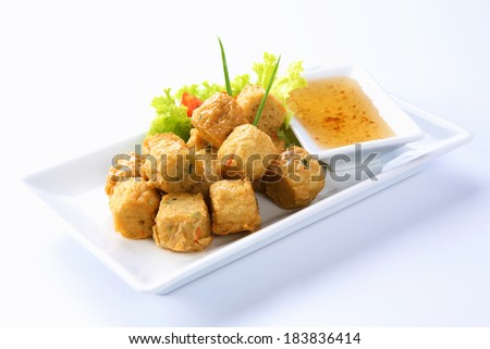 Deep Fried Chicken Roll, Thai food - stock photo
