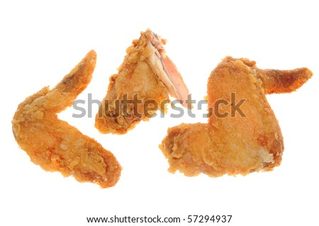 Deep Fried Chicken Wings - stock photo